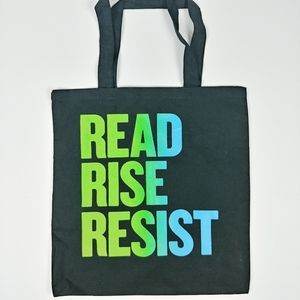 Handbags - READ RISE RESIST Book Tote Bag Black
